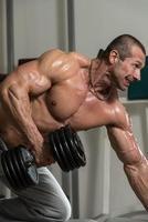 exercices du dos avec haltères photo