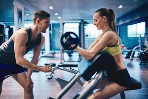 séance d'entraînement dans la salle de gym photo