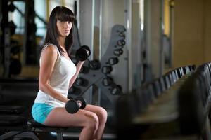 femme, formation, gymnase