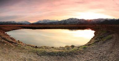 paysage coucher de soleil