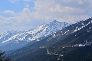 paysage de montagnes de neige photo
