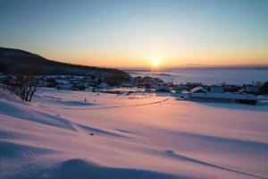 soirée d'hiver. photo