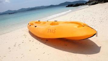 Thaïlande kayak sur la plage photo
