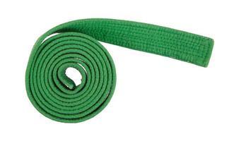 ceinture verte isolée photo