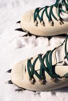 bottes de montée d'hiver photo