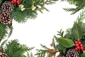 bordure d'hiver traditionnelle photo