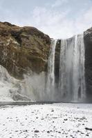 Islande cascade d'hiver photo