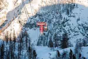 station de ski d'hiver photo