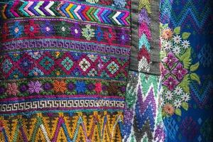 tissu guatémaltèque traditionnel fait main photo