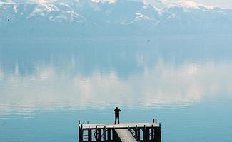 imaginer le lac prespa photo