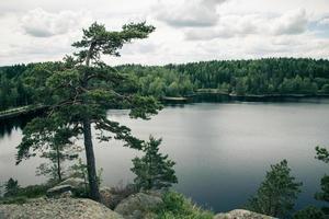 vue sur le lac suédois photo