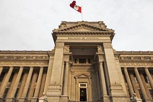 palacio de justicia au centre-ville de lima