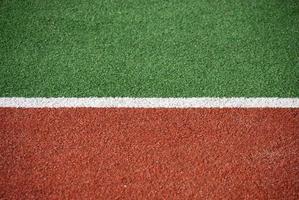 Un gros plan d'une piste d'athlétisme photo