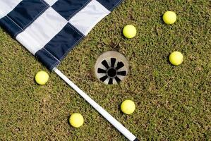 drapeau de golf photo
