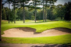 trappe de sable, golf photo