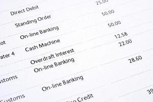 relevé bancaire