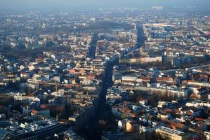 panorama à vol d'oiseau de berlin photo