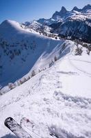 piste de ski avec vue photo