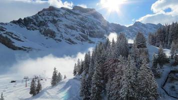 station de ski suisse photo