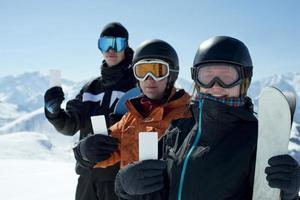 laissez-passer de groupe pour les sports d'hiver photo