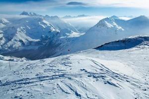 piste de ski à tignes, france