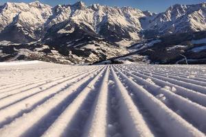 piste de ski parfaite photo