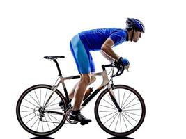 cycliste cyclisme vélo de route silhouette