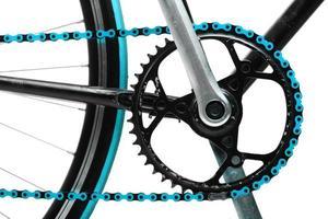 chaîne de vélo bleu