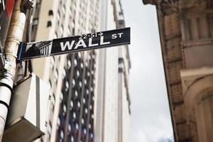 Plaque de rue de mur à Manhattan photo