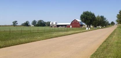 terres agricoles dans l'Oklahoma photo