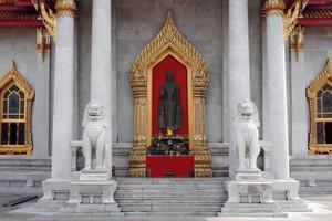 temple de marbre - bangkok photo