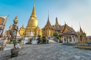 à phra kaeo, temple du Bouddha d'émeraude, Bangkok Thaïlande. photo