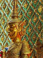 thaïlande, bangkok, palais, palais royal, statue, masque photo