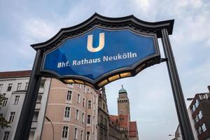 hôtel de ville de berlin nouveau signe de cologne photo
