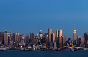 Manhattan sur la rivière Hudson photo