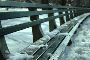 banc et neige