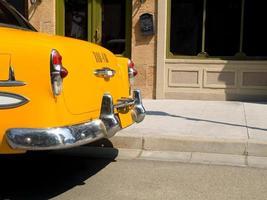 détail d'un vieux taxi new york