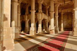Mosquée Jama Masijd dans le complexe Sarkhej Roza en Inde photo