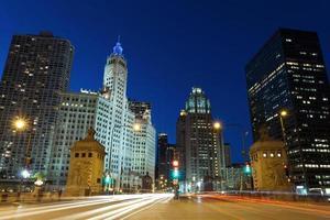 avenue du michigan à chicago. photo