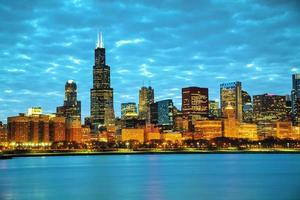 paysage urbain du centre-ville de chicago photo