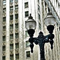 chicago- détails architecturaux, façade, art déco photo