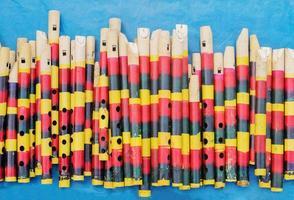flûtes en bambou, salon de l'artisanat indien à kolkata
