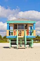cabane de surveillance de la baie en bois photo
