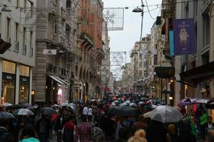 Beyoglu par temps de pluie