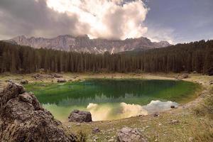 Dolomiti, Lago di Carezza, Trentin-Haut-Adige photo