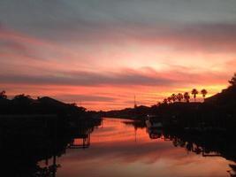 coucher de soleil entrée photo
