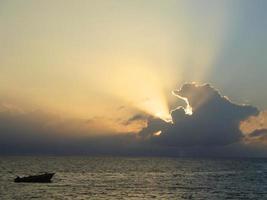 coucher de soleil fidji photo