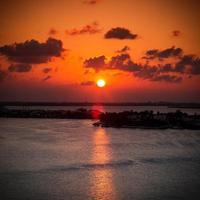 coucher de soleil des Caraïbes photo