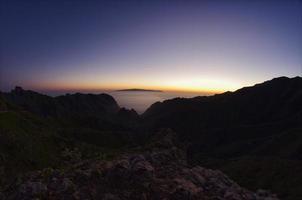 coucher de soleil de Tenerife photo