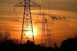 coucher de soleil électrique photo